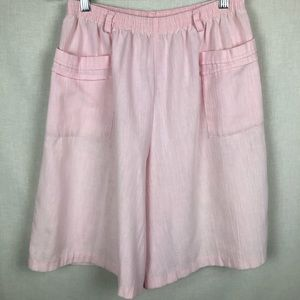 Vintage High Waisted, Large Leg Pink Shorts S
